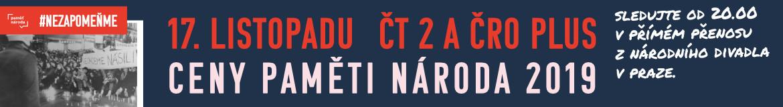 Ceny Paměti národa 2019